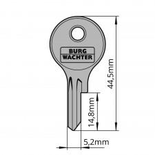 Ersatzschlüssel für Burg-Wächter Tür- und Fenstersicherungen 12B