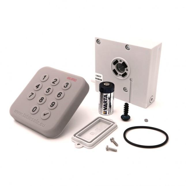 BURG Keypad Outdoor IP54 Zahlencodeschloss Set Einzelteile II