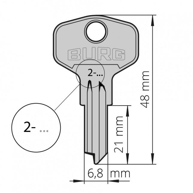 Ersatzschlüssel für Wechselsystem S beginnt mit 2-
