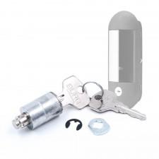 BURG Klappgriff (Muldengriff) Ersatzteilset mit Wechselzylinder und Wendeschlüsseln