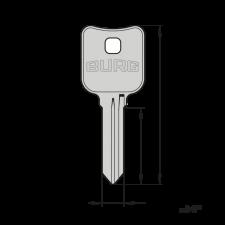 Original BURG® Schlüsselrohling (Typ X) für den Einsatz in Präzisions-Schlüsselfräsmaschinen (Schlüsselkopiermaschinen)