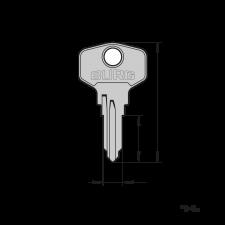 Original BURG® Schlüsselrohling (Typ E) für den Einsatz in Präzisions-Schlüsselfräsmaschinen (Schlüsselkopiermaschinen)