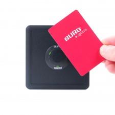 Die Transponderfreigabebox (13,45 MHz) von BURG für RFID-Medien zum Löschen der Besetztkennung auf Karten