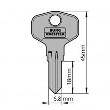 Ersatzschlüssel für Burg-Wächter Briefkastenzylinder 34W