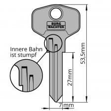 Ersatzschlüssel für Burg-Wächter Universalzylinder 36W K-Profil