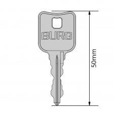 BURG Schlüssel Typ X für gleichschließende Wechselzylinder