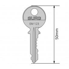 BURG-Montageschlüssel für Wechselzylinder Typ M